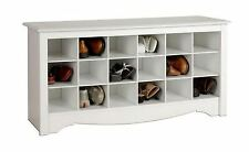 New Entryway Shoe Storage Bench, White Rack Organizer Wood Cabinet Shelf Hallway