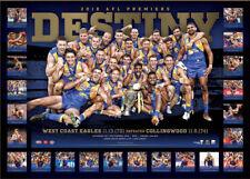 West Coast Eagles 2018 Premiers Destiny AFL Official Print ONLY + COA Kennedy
