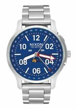 **BRAND NEW** NIXON WATCH THE ASCENDER SILVER BLUE A1208722 NEW IN BOX!