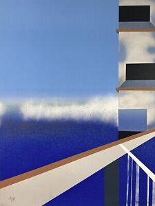 "Oscar Gustav Magnan - Postmodern ""Looking Up"" Serigraph (1980, Artist's Proof)"