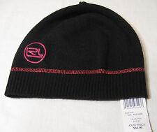 Lauren Ralph Lauren Womens Knit Beanie NWT Black/Pink