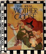 Vintage THE REAL MOTHER GOOSE (HCDJ 1967) Illustrations BLANCHE FISHER WRIGHT
