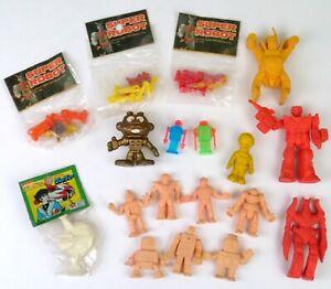 18 Vintage 1980's Rubber Vinyl Plastic Small Robots Gumball Eraser Prize Cheap