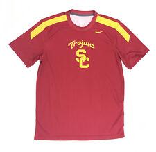 Nike Men's L USC Trojans Team Digital Court Crew Training Jersey Red $60 728283