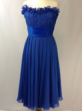 Morilee by Madeline Gardner Royal Blue Ruffle and Pleats Women's Dress - Size 24