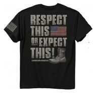 Respect This or Expect This Short Sleeve T-Shirt - NEW Buck Wear