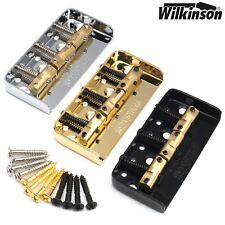 Wilkinson WTBS SHORT Telecaster Guitar Bridge w/ Compensated Brass Saddles Tele