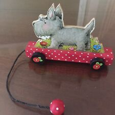 Vintage Mary Engelbreit 2000 Scottie /Scotty Pull Toy