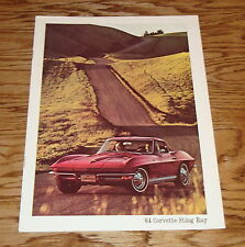 1964 Chevrolet Corvette Sting Ray Sales Brochure 64 Chevy