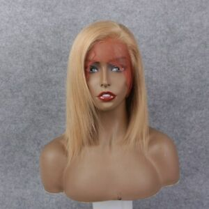 """Full Lace Wig 12"""" #22 Straight Bob 100% Indian Remy Hair Free shipping"""