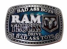 Dodge Ram Trucks Bad Ass Logo Metal w/ Enamel BELT BUCKLE