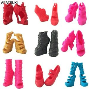 1pair Fashion Modern Design Shoes High Heel Shoes For Monster High Dolls Boots