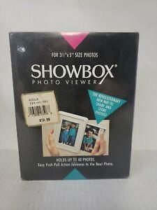 "Vintage Burnes Showbox Photo Viewer for 3.5"" x 5"" Photos New Sealed Switzerland"