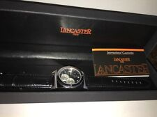 Lancaster Italy WATCH Black silver Men's Kamata mineral glass Watch NEW