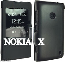 Per NOKIA X DUAL SIM RM 980 CUSTODIA IN PELLE LUSSO LUXURY Pouch Cover Skin Wallet Style