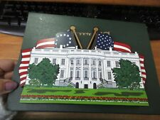 Shelia's America the Beautiful Wood Collectible White House Remember 9/11 Nib