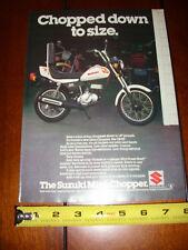 Suzuki Cr-50 Mini Chopper - Original 1979 Ad
