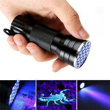 Mini Portable UV Ultra 21 LED Flashlight Violet Purple Blacklight Torch Lamp NEW