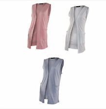 Patternless Sleeveless Jumpers & Cardigans for Women