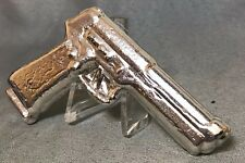 CAM Silver Bar - 5oz Pistol - Five Troy Ounce 999 Fine Silver - Hand Poured