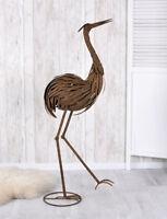 Fischreiher Skulptur Vogelfigur Reiher 132cm Reiherschreck Gartenfigur Vogel
