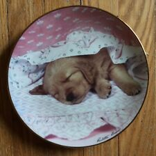 "Hamilton Collection, ""Do Not Disturb!� 1994 Golden Puppy Portraits Plate, Mint"