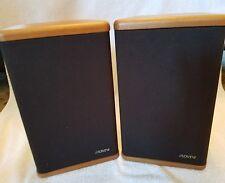 Advent Vintage Mini Bookshelf Speakers Pair Genuine Hardwood