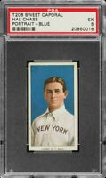 Rare 1909-11 T206 Hal Chase Blue Portrait Sweet Caporal 350 New York PSA 5 EX