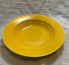 "Vintage Homer Laughlin Harlequin 8 ½"" Rim Soup Bowl Yellow"