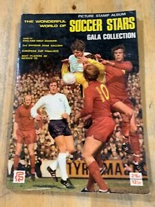 THE WONDERFUL WORLD OF SOCCER STARS GALA COLLECTION STICKER ANNUAL-1970-71