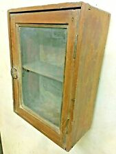 OLD VINTAGE UNIQUE WALL HANGING WOODEN SHOWCASE  COLLECTIBLE