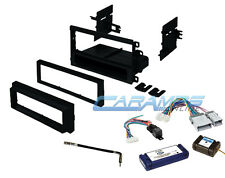 CAR STEREO RADIO DASH INSTALLATION BEZEL KIT WITH CHIME INTERFACE WIRING HARNESS