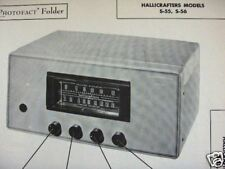 HALLICRAFTERS S-55, S-56 RECEIVER PHOTOFACT PHOTOFACTS