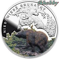 Poland 2009 silver Symbols of Nature Bear Bär Ours Orso Niedżwiedż Animals Tiere