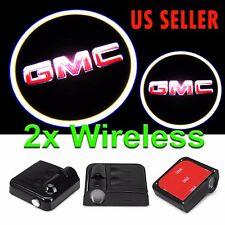 2x Wireless Ghost Shadow Project Cree Logo LED Light Courtesy Door Step for GMC