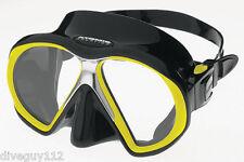 Atomic SubFrame Dive Mask for FreeDiving Scuba Snorkeling Black/Yellow