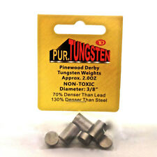 Tungsten Pinewood Derby Car Weights, 2 oz,, cylinders, 7-pack