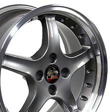 "CP Fits 17"" 4 lug Cobra Wheels Gunmetal 5.0 Rims Mustang® GT 79-93"