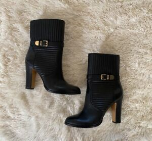 vince camuto boots 8.5 black leather