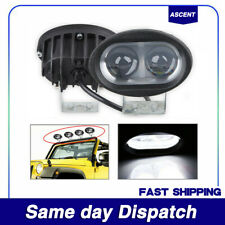 Pair Car LED Work Driving Light Spot Beam Bright Waterproof Parts Accessories