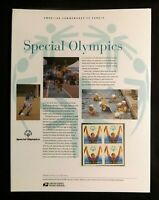2003 SPECIAL OLYMPICS #3771 - USPS Commemorative Stamp Panel Series #679 MNH