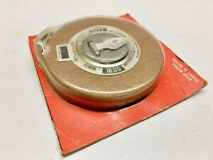 Evans 50 Ft White Tape Measure In package Charleston SC Montreal QUE vintage 50W