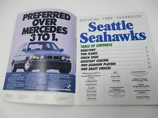 Seattle Seahawks Official 1989 Yearbook 11x8.5