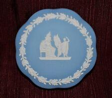 Wedgwood Blue Jasperware Covered Trinket Box - Free Shipping