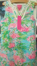 New Lilly Pulitzer Girls Mini Harper Shift Dress Floridita Flamingo 8 10 08027B