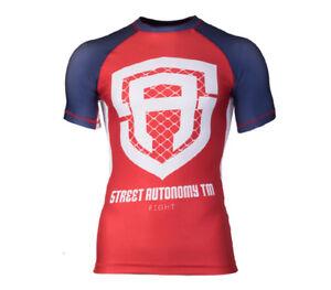 Rashguard Short Street Autonomy Classic blue-white-red...PROSTO TPS MMA OCTAGON