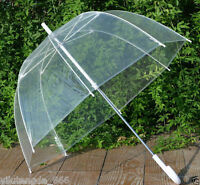 New Transparent - Clear Dome-Birdcage - contracted Manual open an umbrella