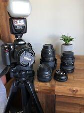 Nikon DSLR, wide angle lens, portrait lens, telephoto lens, professional kit