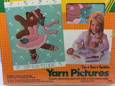 1985 Crayola  #2201 Yarn Pictures Tip Toe Teddie, Arts & Crafts