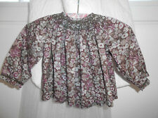 BONPOINT BLOUSE LIBERTY BRODEE MAIN 6 MOIS TBE